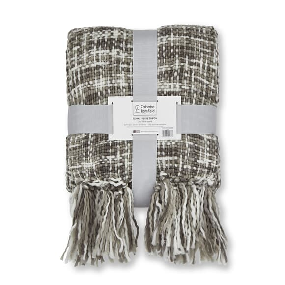 Catherine Lansfield Tonal Weave Grey large