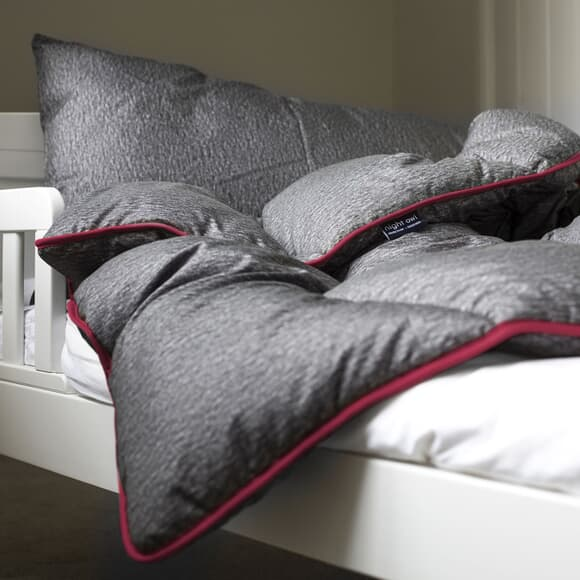 Fine Bedding Co Night Owl Grey/ Pink large