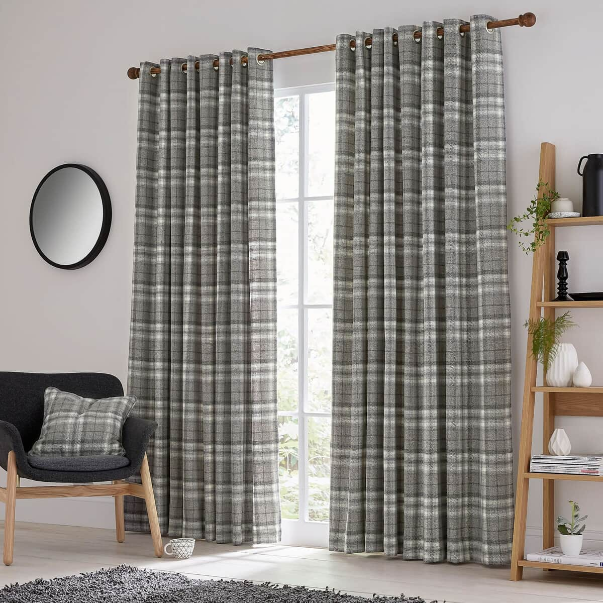 Helena Springfield Harriet Charcoal Curtains large