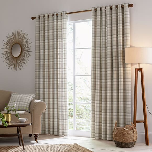 Helena Springfield Harriet Taupe Curtains large