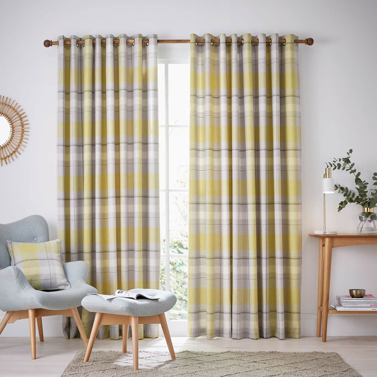 Helena Springfield Nora Chartruse Curtains large