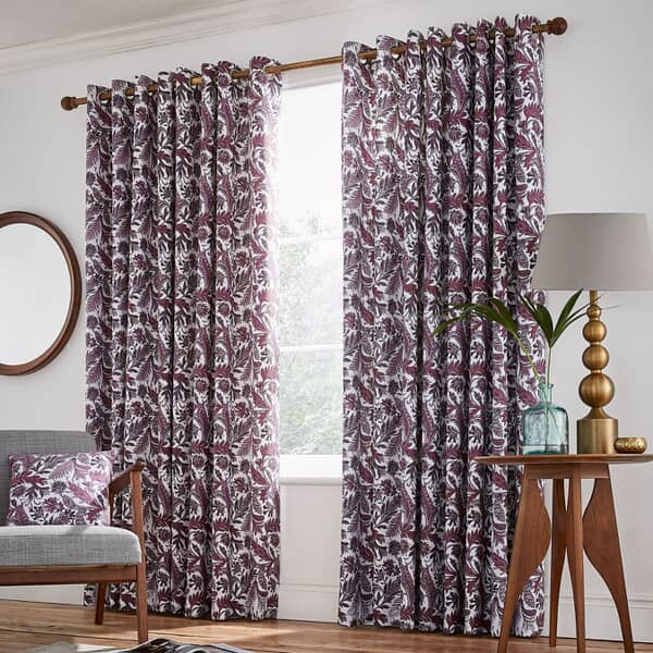 Jacaranda Plum Curtains