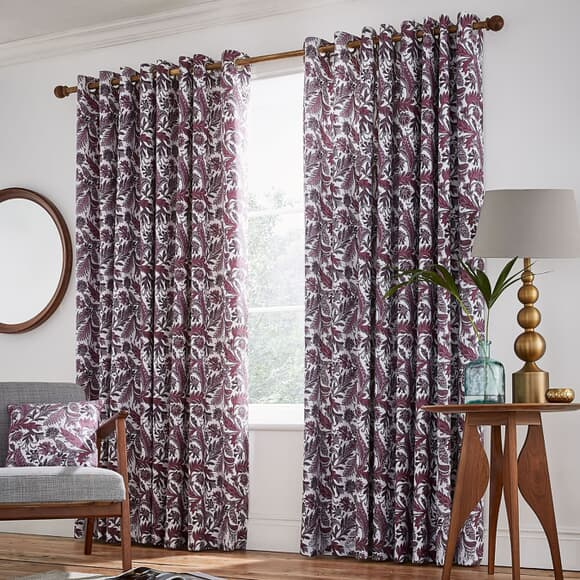 Helena Springfield Jacaranda Plum Curtains large