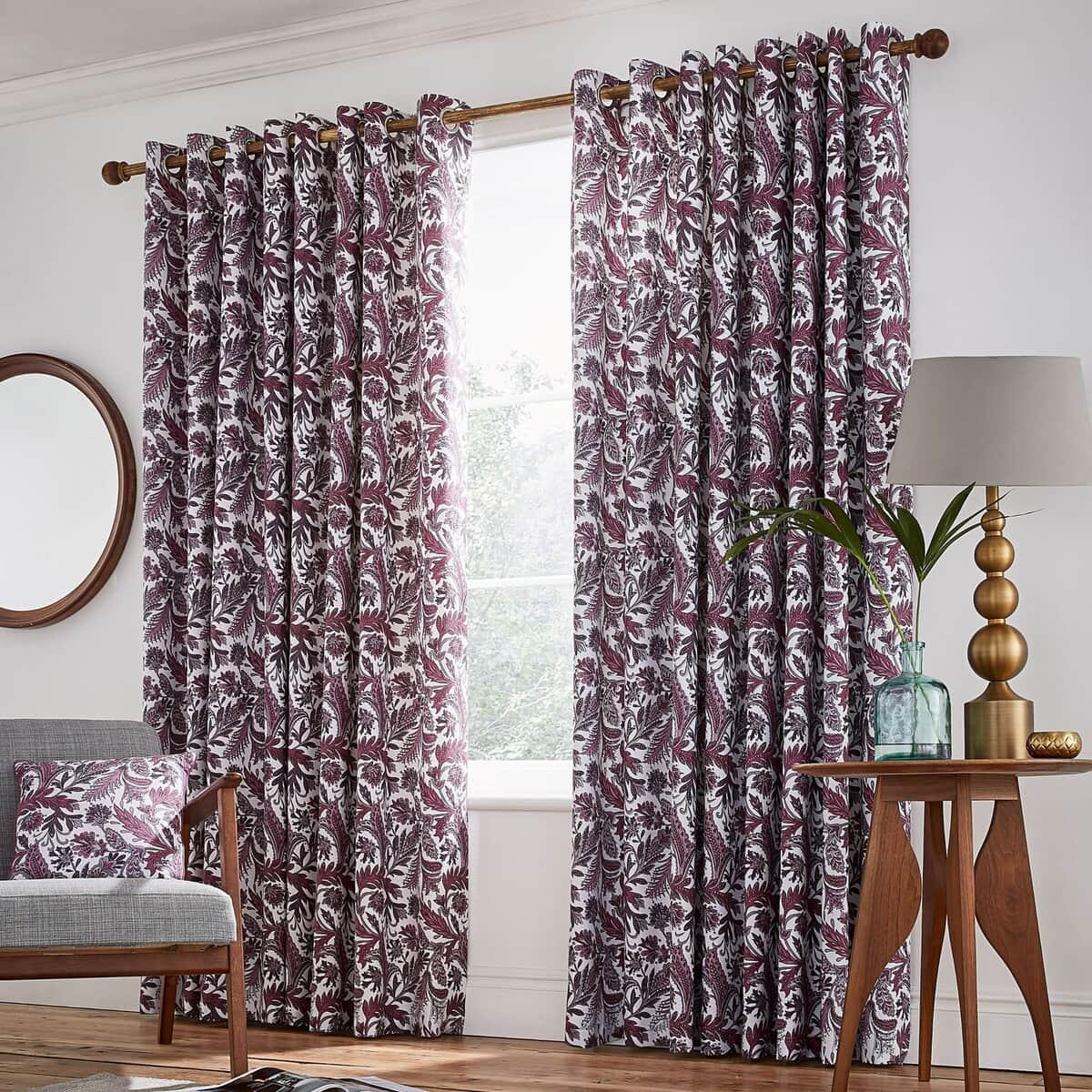 Helena Springfield Jacaranda Plum Curtains large