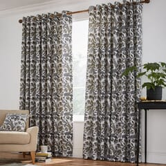 Jacaranda Charcoal Curtains