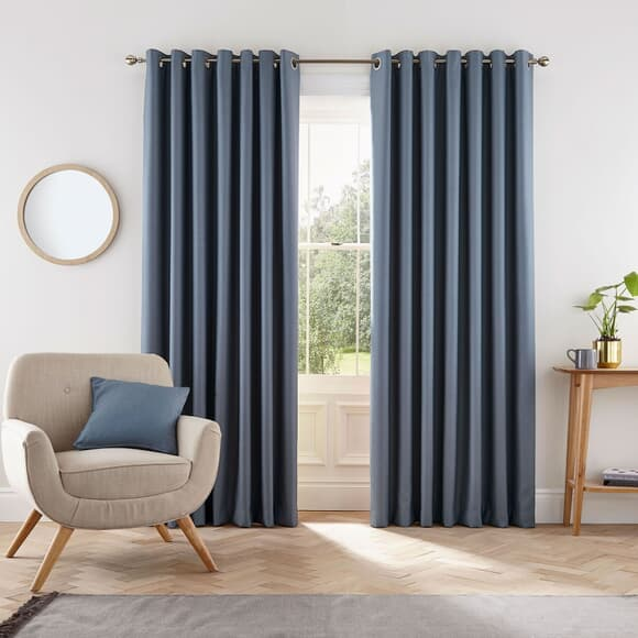 Helena Springfield Eden Blue Curtains large