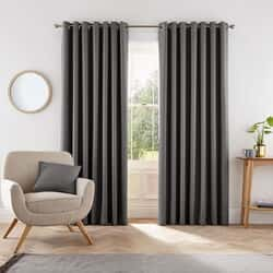 Eden Charcoal Curtains