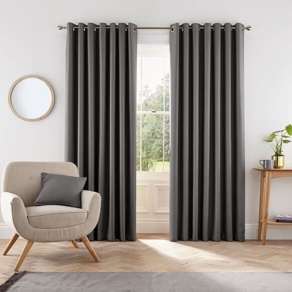 Helena Springfield Eden Charcoal Curtains large