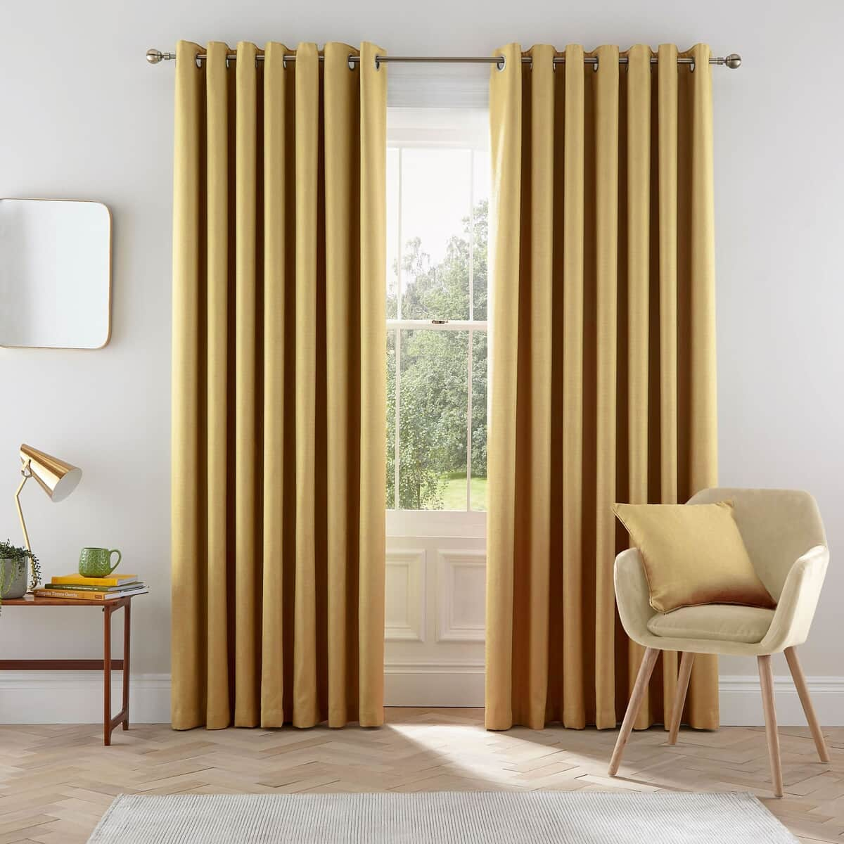 Helena Springfield Eden Chartreuse Curtains large