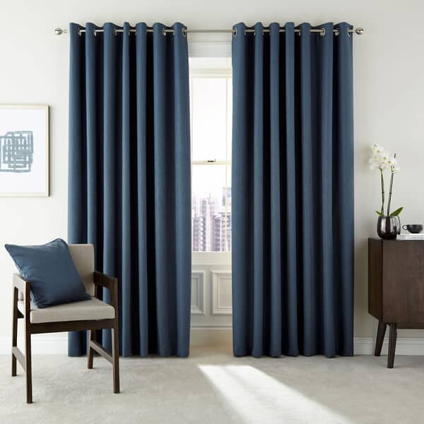 Barcelo Prussian Blue Curtains