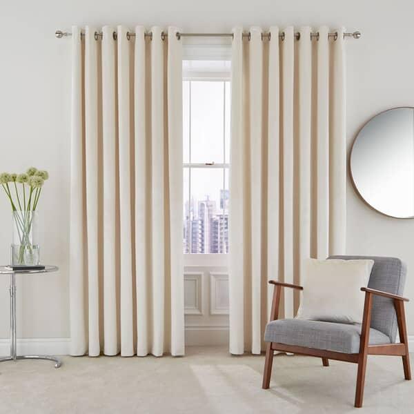 Escala Oyster Curtains