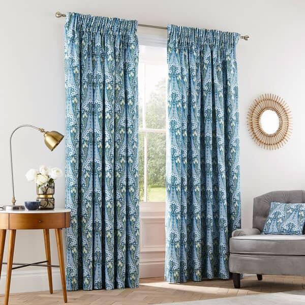 Alyssum Blue Curtains