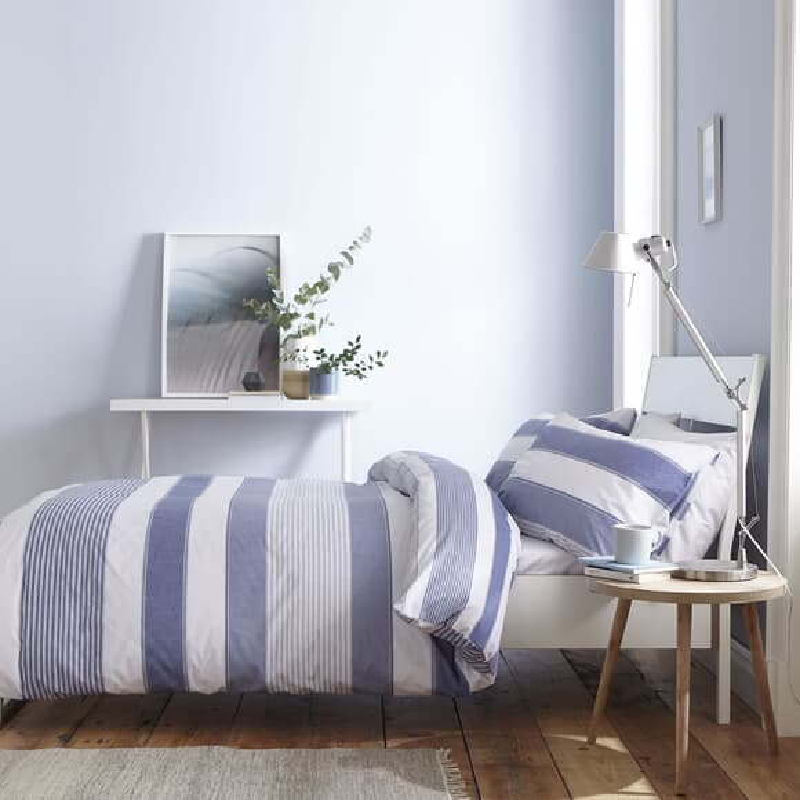 Catherine Lansfield Newquay Stripe Blue large