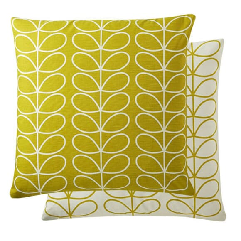 Orla Kiely Small Linear Stem Cushion Sunflower large