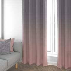 Frost Curtains Grey/ Pink
