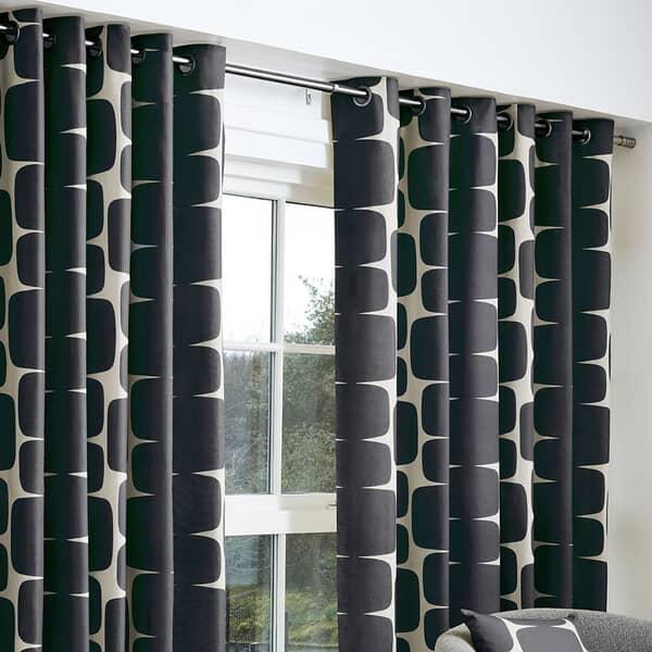 Lohko Curtains Black
