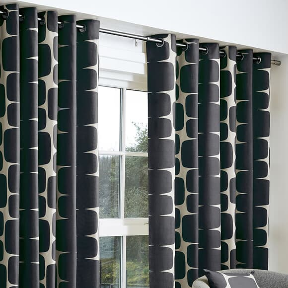 Scion Curtains Lohko Curtains Black large