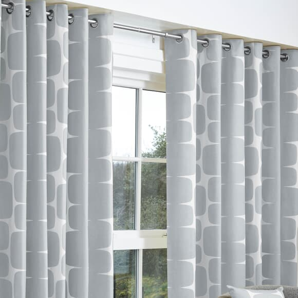Scion Curtains Lohko Curtains Silver large