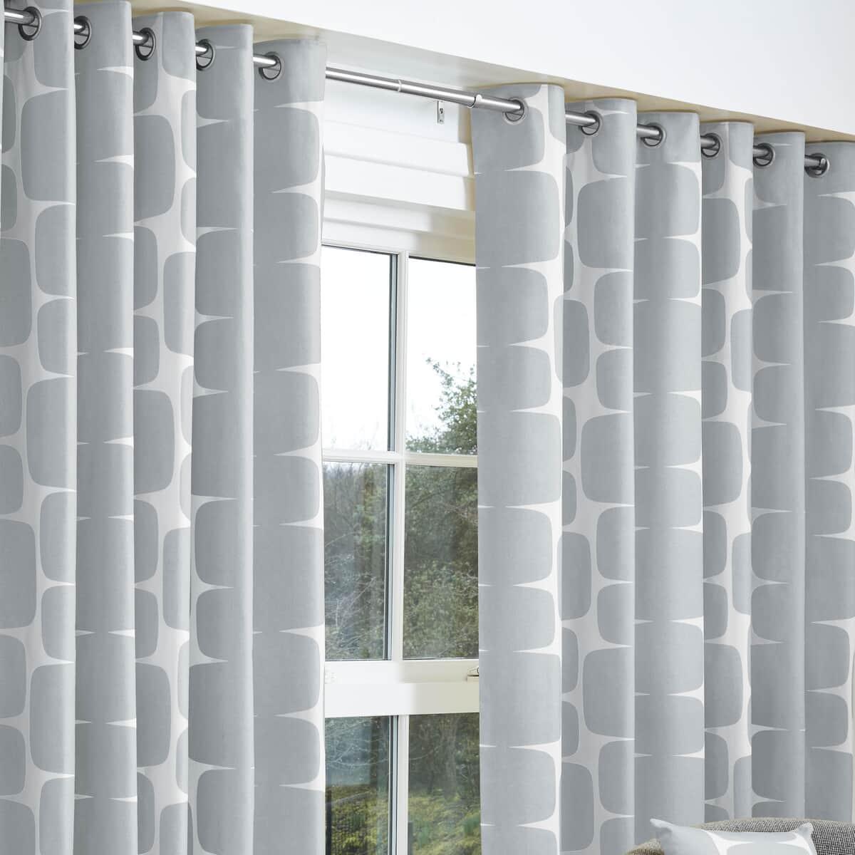 Scion Curtains Lohko Curtains Silver large