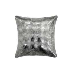 Square Crystal Silver Cushion