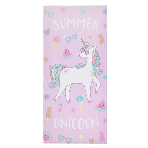 Catherine Lansfield Summer Unicorn Beach Towel large