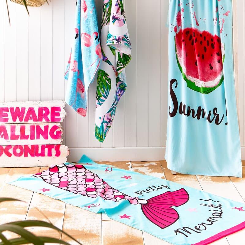 Catherine Lansfield Mermaid Beach Towel large