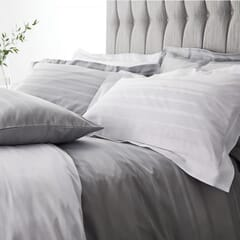 Satin Weave Hotel Stripe Grey
