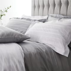 Satin Weave Hotel Stripe Grey