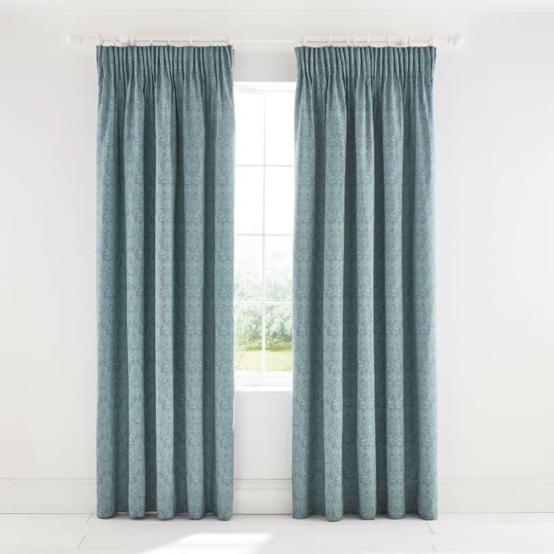 William Morris Little Chintz Curtains Teal large