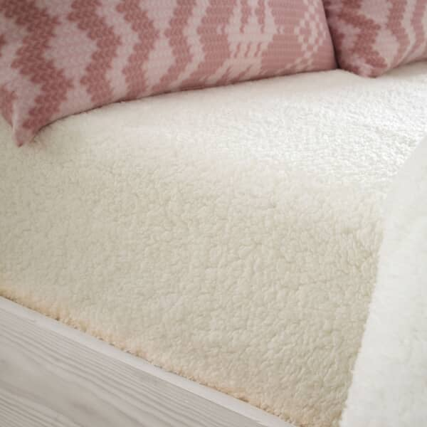So Soft Sherpa Fleece Sheet Cream