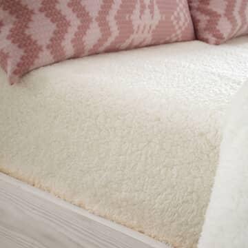So Soft Sherpa Fleece Sheet Cream