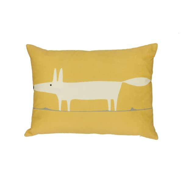 Mr Fox Cushion Ochre