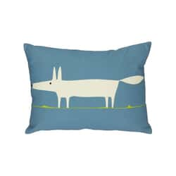 Mr Fox Cushion Blue