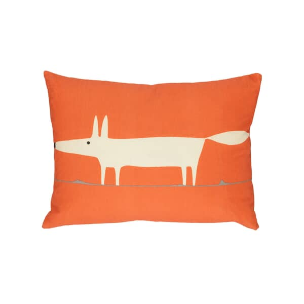 Mr Fox Cushion Orange