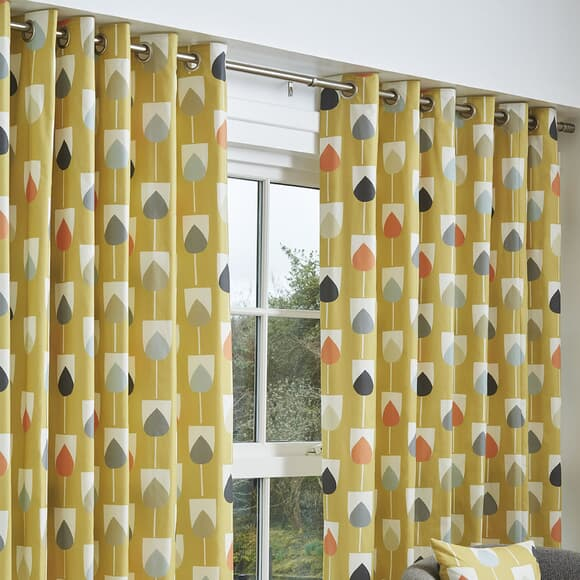 Scion Curtains Sula Curtains Mustard large