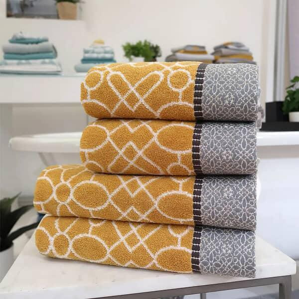 Cassia Border Towel Ochre