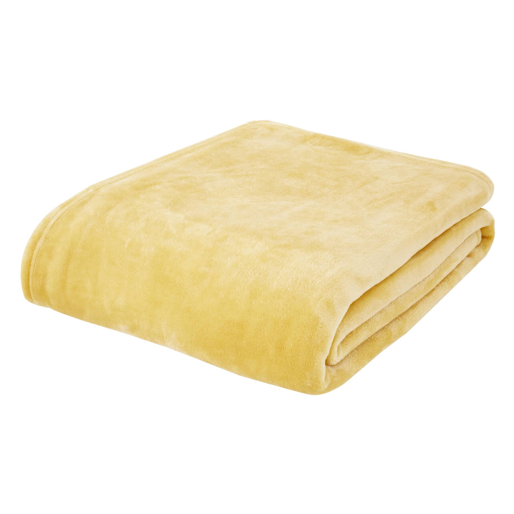 Raschel Velvet Touch Throw Ochre