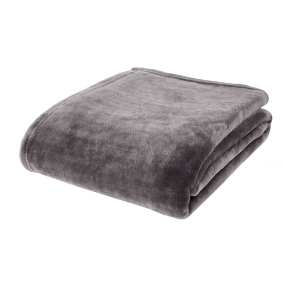 Catherine Lansfield Raschel Velvet Touch Throw Charcoal large