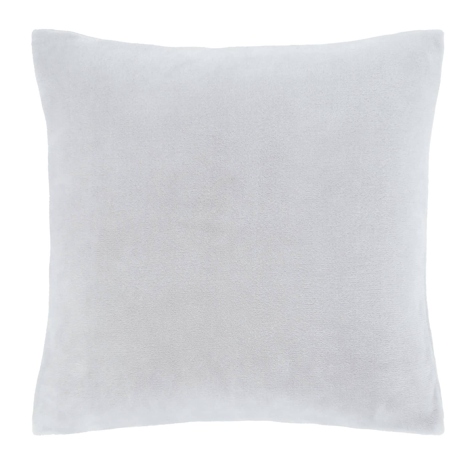 Raschel Velvet Touch Cushion Cover Silver