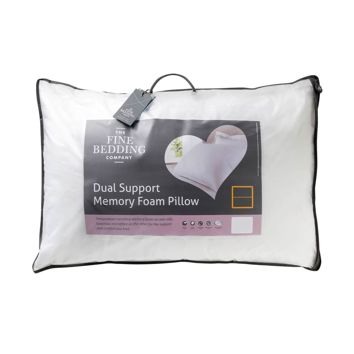 Fine Bedding Co Dual Support Memory Foam Pillow large