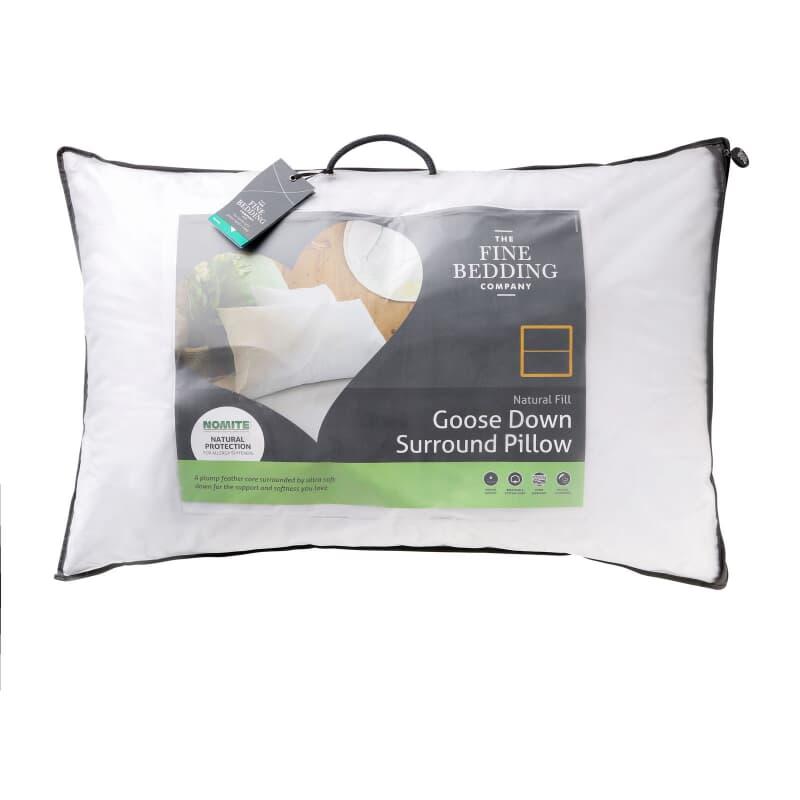 Fine Bedding Co Goose Down Surround Pillow large