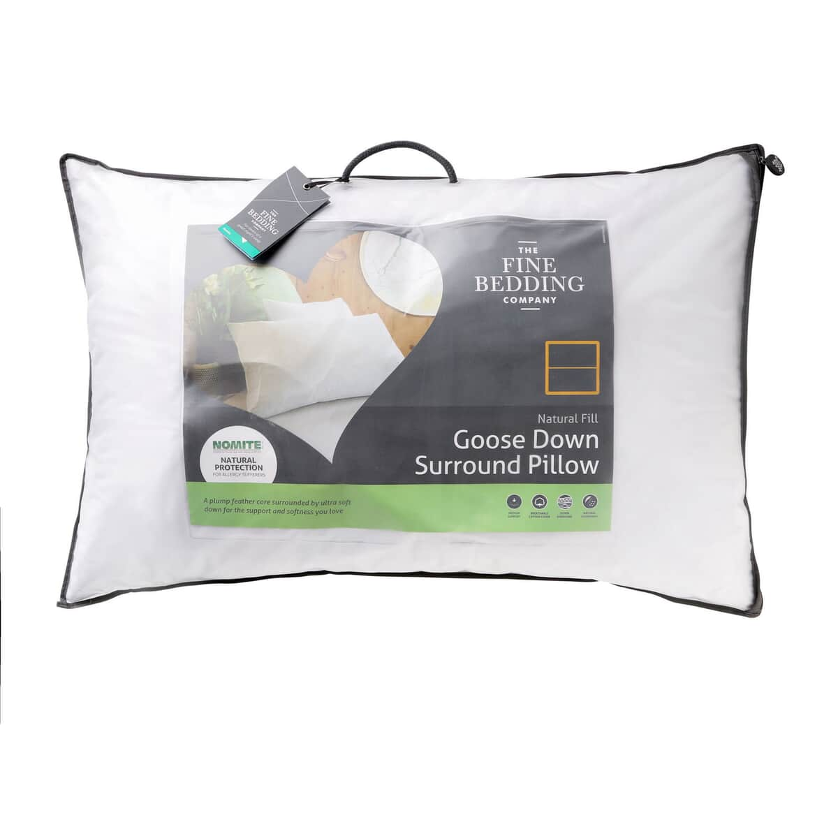 Fine Bedding Co Goose Down Surround Pillow large