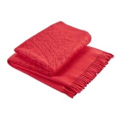 Lace Throw Cranberry
