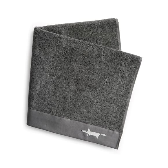 Scion Mr Fox Embroidered Towels Graphite large