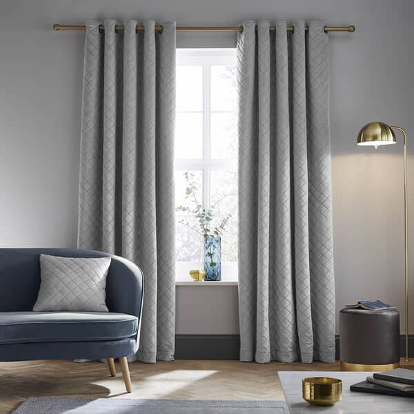 So Soft Luxe Velvet Curtains Silver
