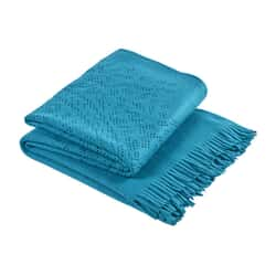 Lace Throw Teal