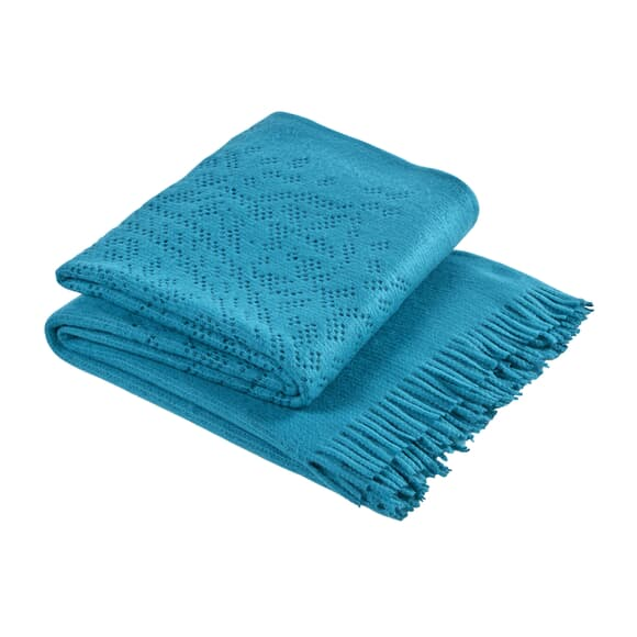 Christy Lace Throw Teal large