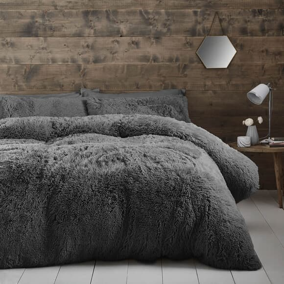 Catherine Lansfield Cuddly Charcoal large