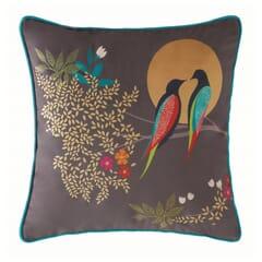 Birds At Dusk Cushion Dark Grey