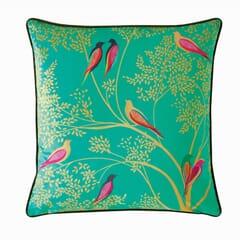 Green Birds Cushion Green